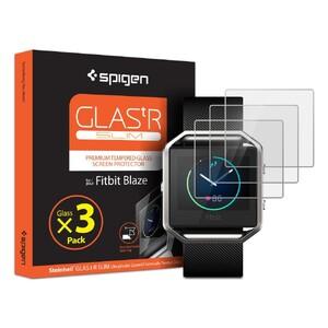 Купить Защитное стекло Spigen GLAS.tR SLIM для часов Fitbit Blaze (3 стекла)