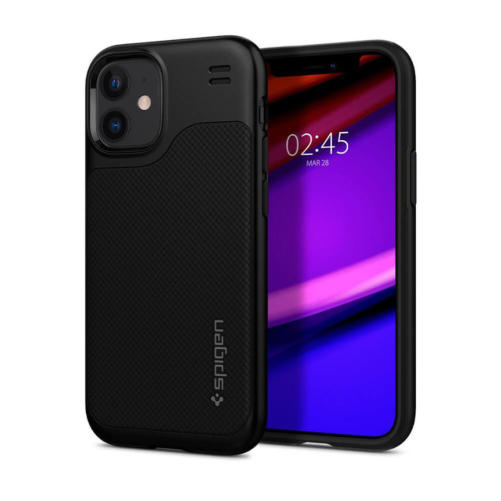 Купить Черный силиконовый чехол Spigen Hybrid NX для iPhone 12 | 12 Pro