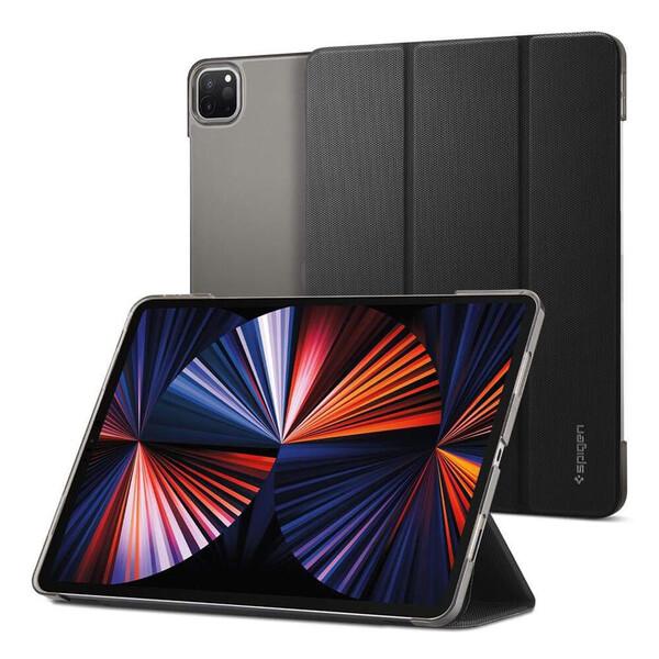 """Чехол-книжка с держателем для Apple Pencil Spigen Liquid Air Folio Black для iPad Pro 12.9"""" M1 (2021)"""