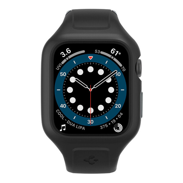 Черный противоударный чехол-ремешок Spigen Liquid Air Pro для Apple Watch 40mm SE | 6 | 5 | 4