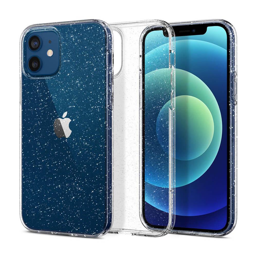 Купить Силиконовый чехол Spigen Liquid Crystal Glitter Crystal Quartz для iPhone 12 | 12 Pro