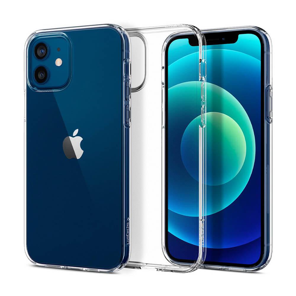 Купить Прозрачный силиконовый чехол Spigen Liquid Crystal для iPhone 12 | 12 Pro