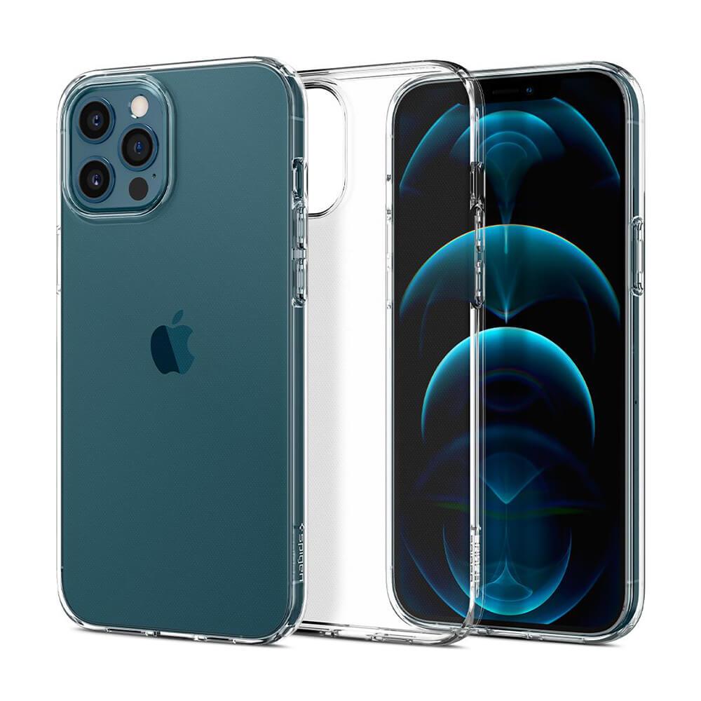 Купить Прозрачный силиконовый чехол Spigen Liquid Crystal для iPhone 12 Pro Max