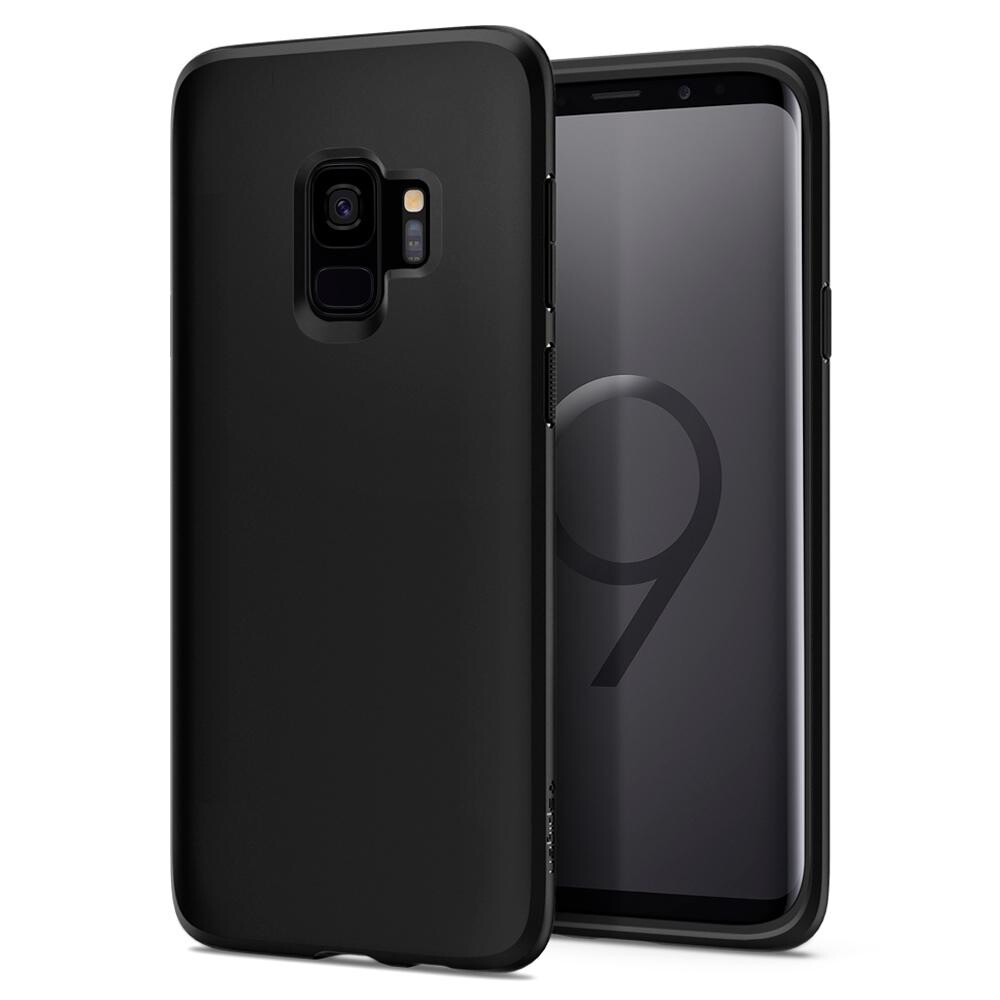 Чехол Spigen Liquid Crystal Matte Black для Samsung Galaxy S9