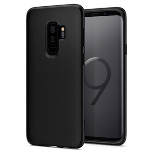 Купить Чехол Spigen Liquid Crystal Matte Black для Samsung Galaxy S9 Plus