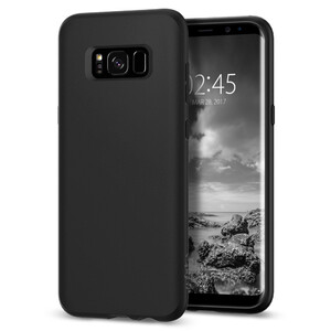 Купить Чехол Spigen Liquid Crystal Matte Black для Samsung Galaxy S8 Plus
