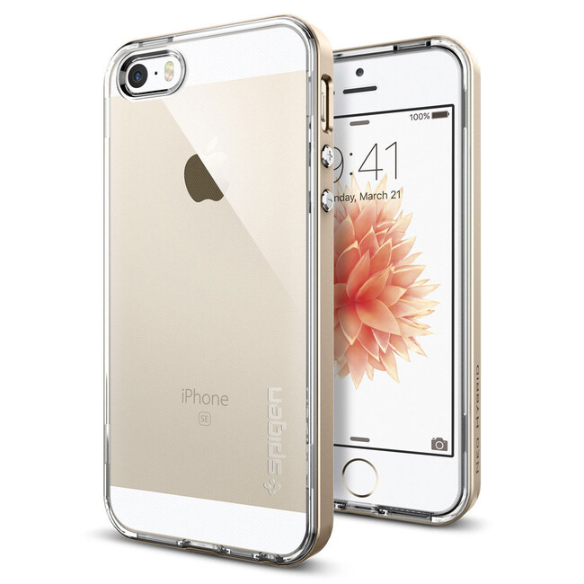 Чехол Spigen Neo Hybrid Crystal Champagne Gold для iPhone SE/5S/5