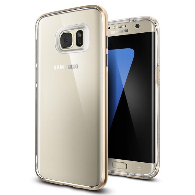 Чехол Spigen Neo Hybrid Crystal Champagne Gold для Samsung Galaxy S7 edge