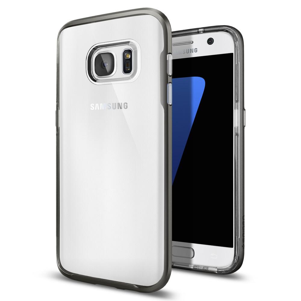 Чехол Spigen Neo Hybrid Crystal Gunmetal для Samsung Galaxy S7