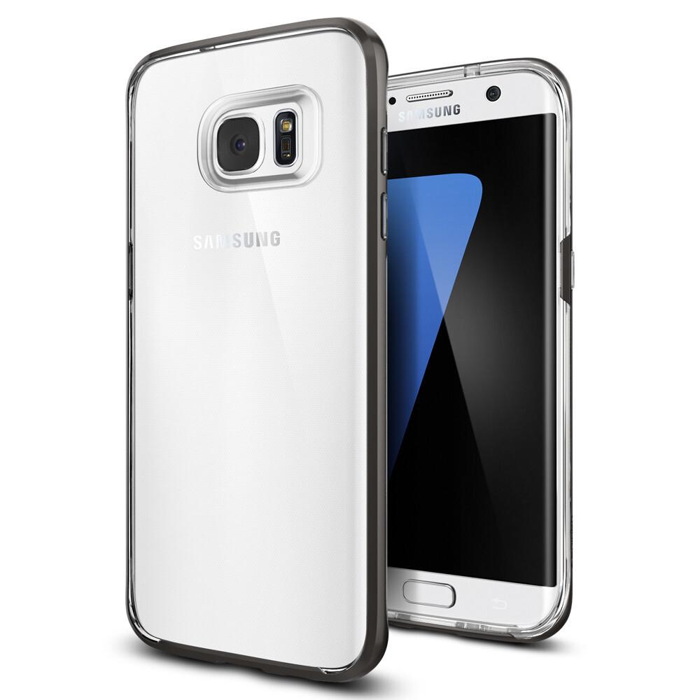 Чехол Spigen Neo Hybrid Crystal Gunmetal для Samsung Galaxy S7 edge