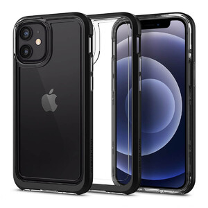 Купить Защитный чехол Spigen Neo Hybrid Crystal Black для iPhone 12 | 12 Pro