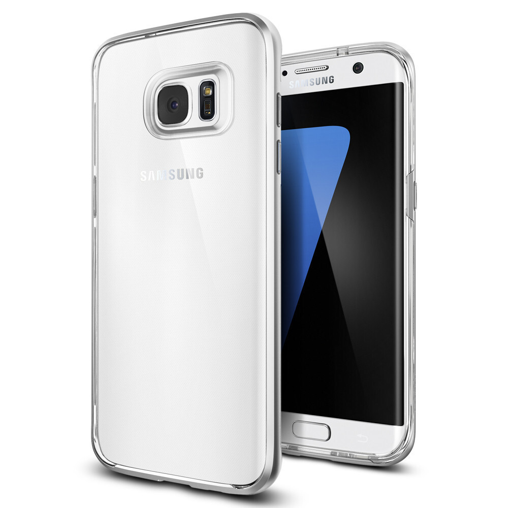 Чехол Spigen Neo Hybrid Crystal Satin Silver для Samsung Galaxy S7 edge