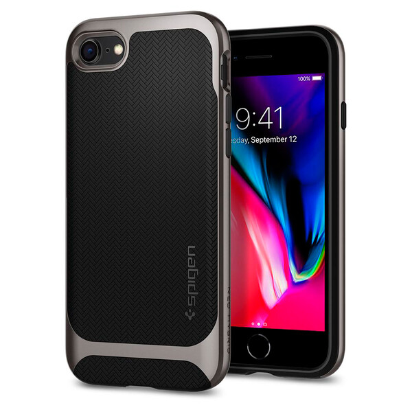 Чехол Spigen Neo Hybrid Herringbone Gunmetal для iPhone 7 | 8 | SE 2020