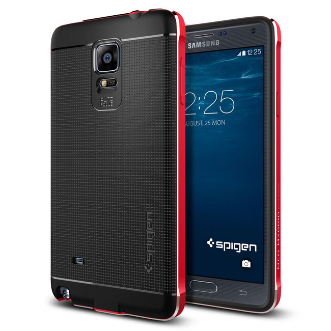 Чехол Spigen Neo Hybrid Metal Metal Red для Samsung Galaxy Note 4