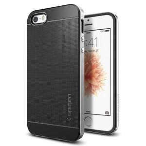Купить Чехол Spigen Neo Hybrid Satin Siver для iPhone SE/5S/5