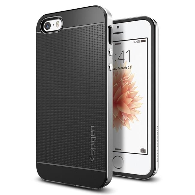 Чехол Spigen Neo Hybrid Satin Siver для iPhone SE/5S/5