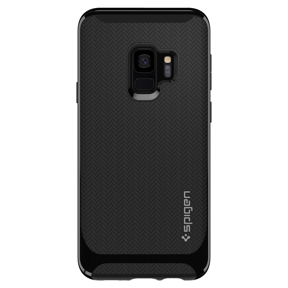 Чехол Spigen Neo Hybrid Shiny Black для Samsung Galaxy S9
