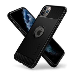 Купить Чехол Spigen Rugged Armor Matte Black для iPhone 11 Pro Max