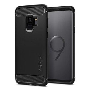 Купить Чехол Spigen Rugged Armor Matte Black для Samsung Galaxy S9