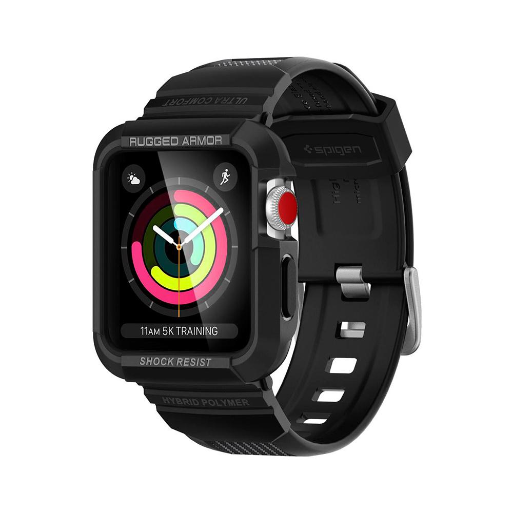Купить Противоударный чехол-ремешок Spigen Rugged Armor Pro для Apple Watch Series 1 | 2 | 3 38mm