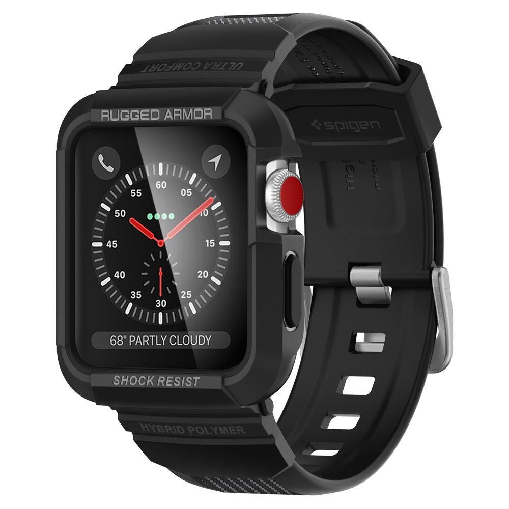 Купить Противоударный чехол-ремешок Spigen Rugged Armor Pro для Apple Watch Series 1 | 2 | 3 42mm