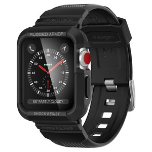 Купить Противоударный чехол-ремешок Spigen Rugged Armor Pro для Apple Watch Series 1/2/3 42mm