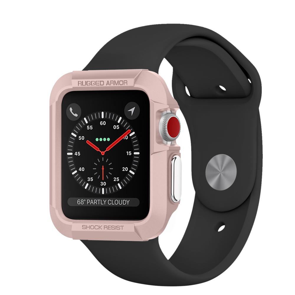 Купить Чехол Spigen Rugged Armor Rose Gold для Apple Watch Series 1 | 2 | 3 42mm