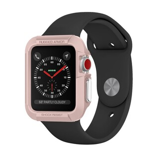 Купить Чехол Spigen Rugged Armor Rose Gold для Apple Watch Series 1/2/3 42mm