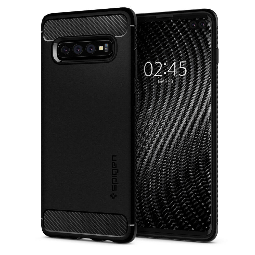 Купить Чехол Spigen Rugged Armor для Samsung Galaxy S10 Plus