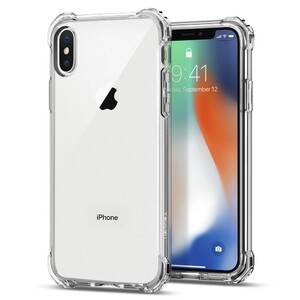 Купить Чехол Spigen Rugged Crystal для iPhone X