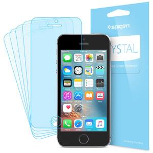 Купить Защитная пленка Spigen Crystal 5x для iPhone SE/5S/5