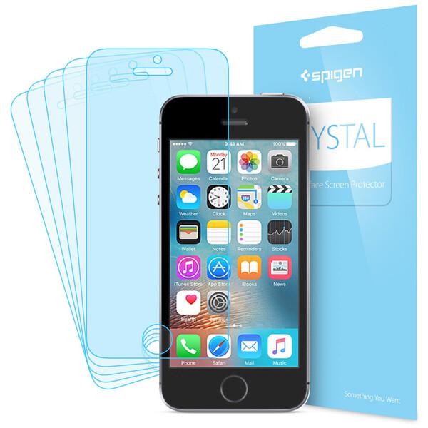 Защитная пленка Spigen Crystal 5x для iPhone SE | 5S | 5 (5 шт.)
