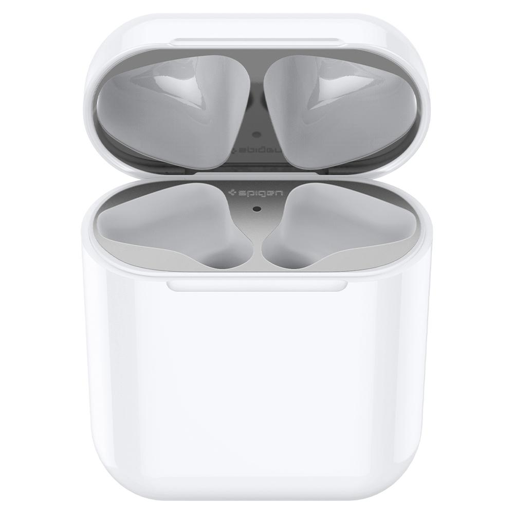 Купить Защитная накладка Spigen Shine Shield Metallic Silver для зарядного кейса AirPods 1 | 2