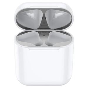 Купить Защитная накладка Spigen Shine Shield Metallic Silver для зарядного кейса AirPods 1/2