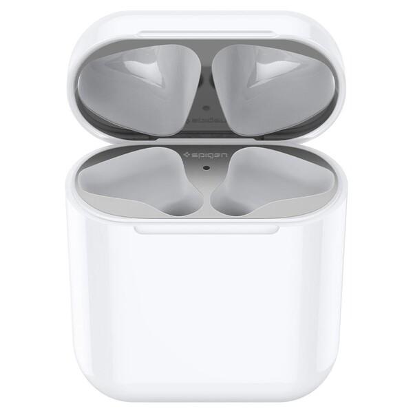 Защитная накладка Spigen Shine Shield Metallic Silver для зарядного кейса AirPods 1 | 2