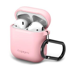 Купить Силиконовый чехол с карабином Spigen Silicone Case Pink для Apple AirPods