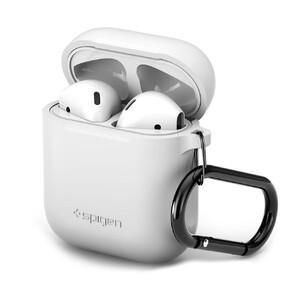 Купить Силиконовый чехол с карабином Spigen Silicone Case White для Apple AirPods