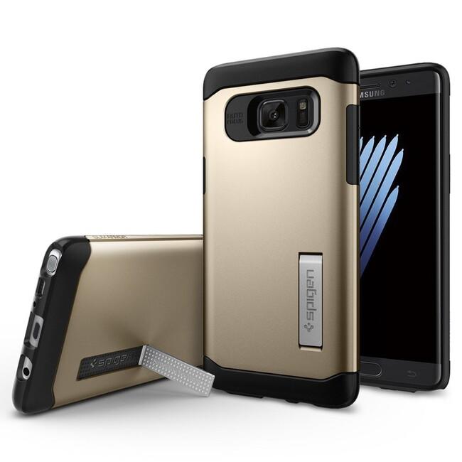 Чехол Spigen Slim Armor Champagne Gold для Samsung Galaxy Note 7