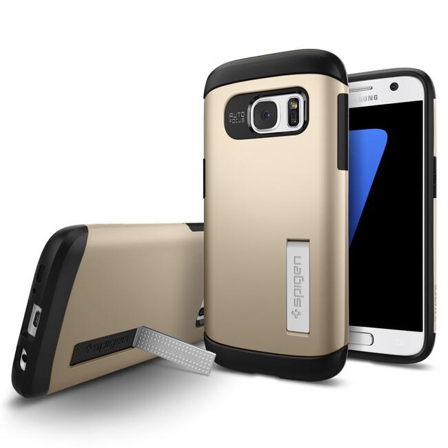 Чехол Spigen Slim Armor Champagne Gold для Samsung Galaxy S7