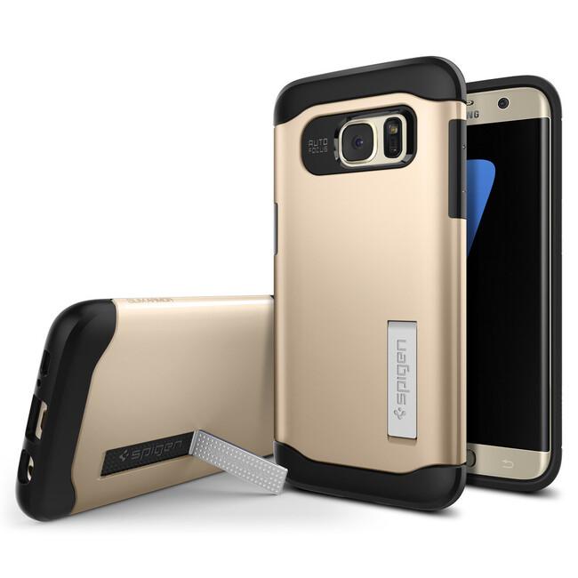 Чехол Spigen Slim Armor Champagne Gold для Samsung Galaxy S7 edge