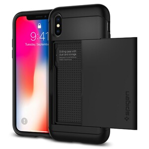 Купить Чехол Spigen Slim Armor CS Black для iPhone X/XS