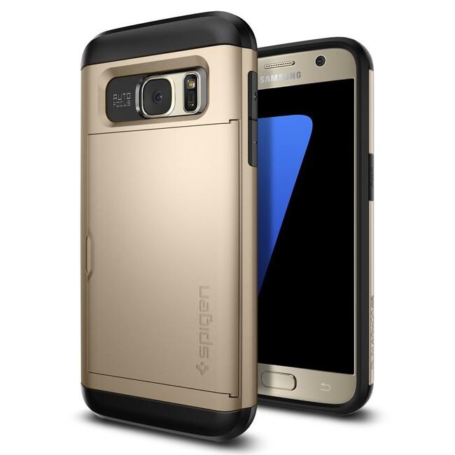 Чехол Spigen Slim Armor CS Champagne Gold для Samsung Galaxy S7