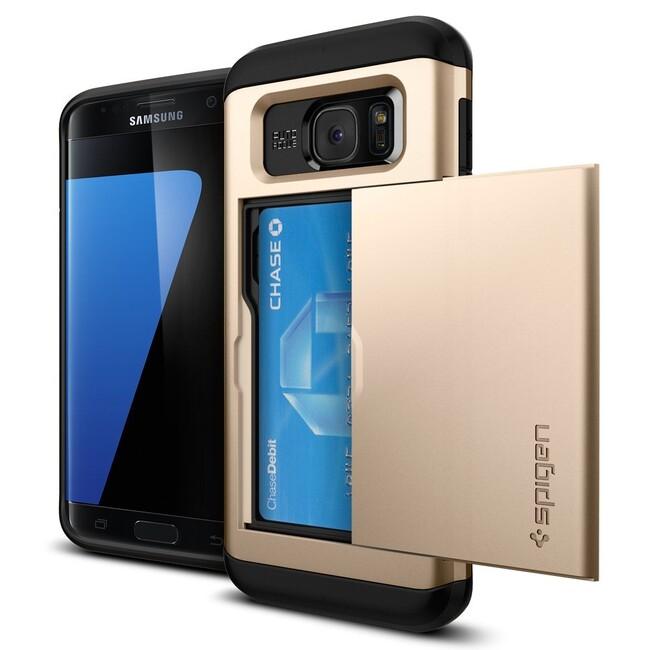 Чехол Spigen Slim Armor CS Champagne Gold для Samsung Galaxy S7 edge