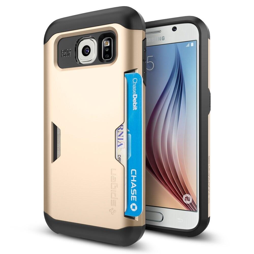 Чехол Spigen Slim Armor CS Champagne Gold для Samsung Galaxy S6