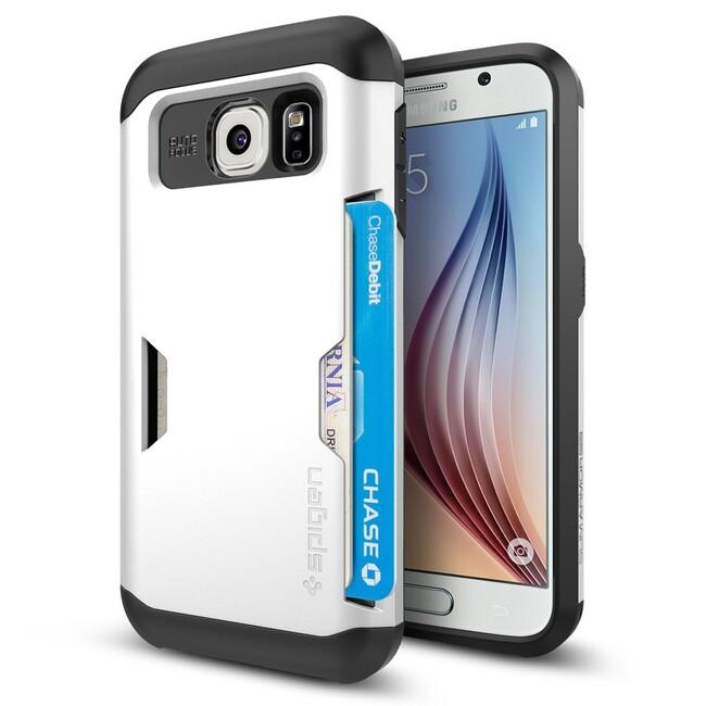 Чехол Spigen Slim Armor CS Shimmery White для Samsung Galaxy S6