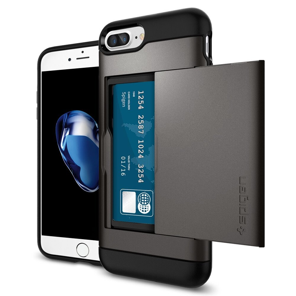 Чехол Spigen Slim Armor CS Gunmetal для iPhone 7 Plus/8 Plus