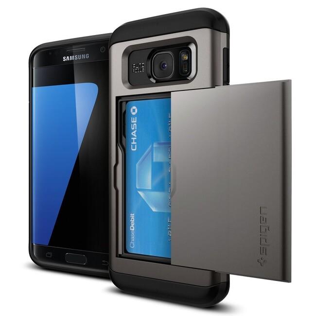 Чехол Spigen Slim Armor CS Gunmetal для Samsung Galaxy S7 edge