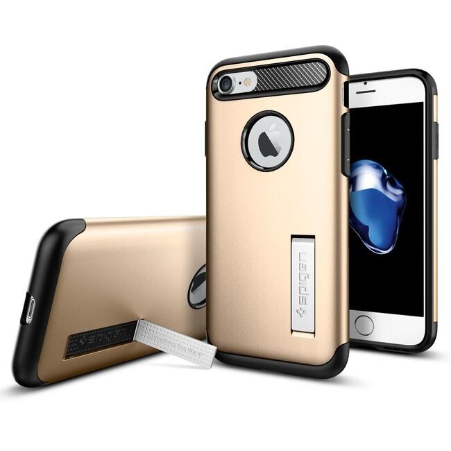 Чехол Spigen Slim Armor Champagne Gold для iPhone 7