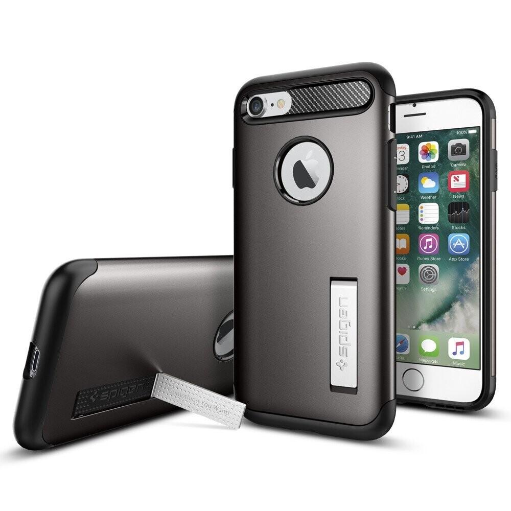 Чехол Spigen Slim Armor Gunmetal для iPhone 7/8