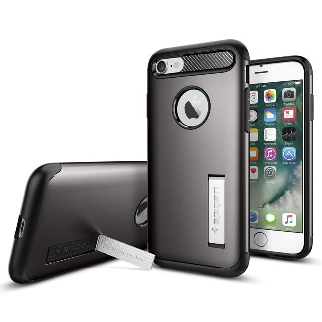 Чехол Spigen Slim Armor Gunmetal для iPhone 7